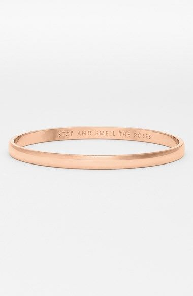 kate spade new york 'idiom - stop and smell the roses' bangle available at #Nordstrom
