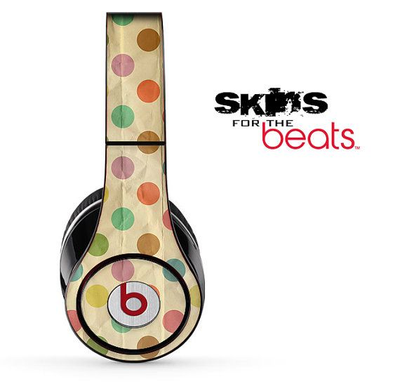 Vintage Polka Dots Skin for the Beats by Dre by TheSkinDudes, $19.99