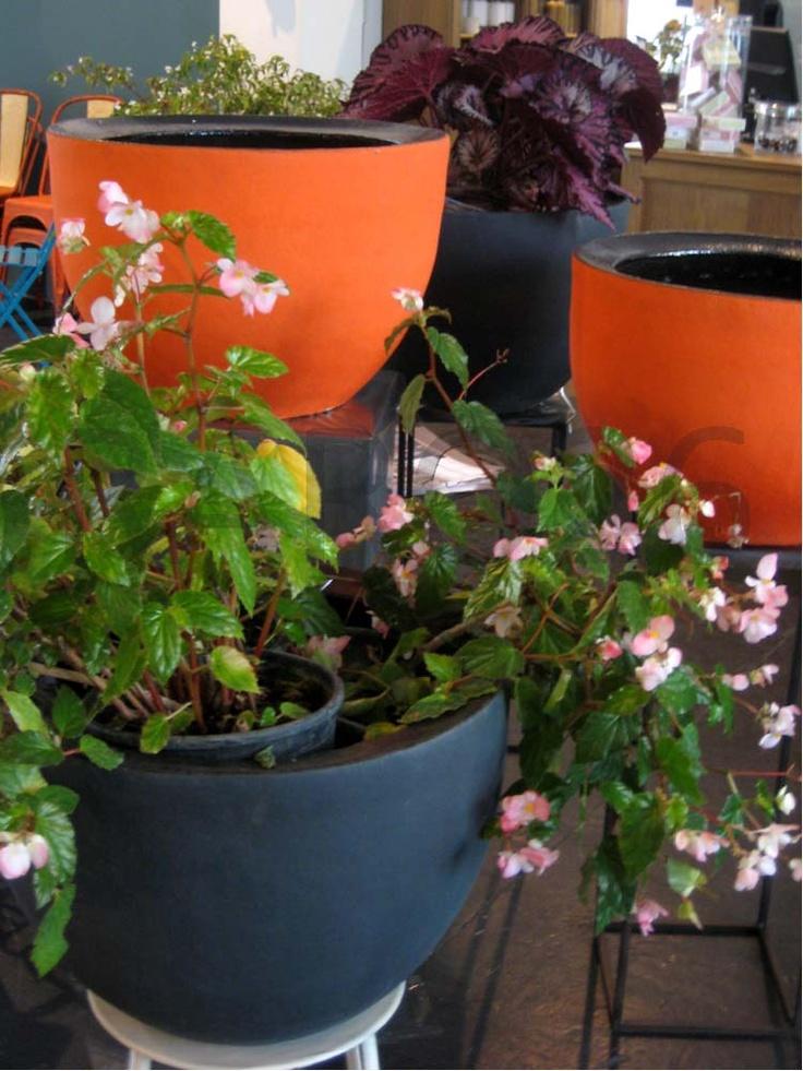 #Vaso da esterno in #terracotta colorata