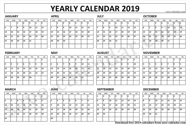 2019 Quarterly Calendar Template | Quarterly calendar ...