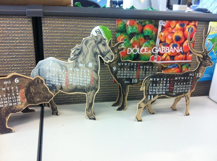 3D desk calendar ark