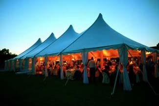 Wedding evening tent