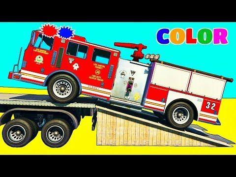 Camion De Pompier Et Voiture De Police Dessin Anime Avec Comptines