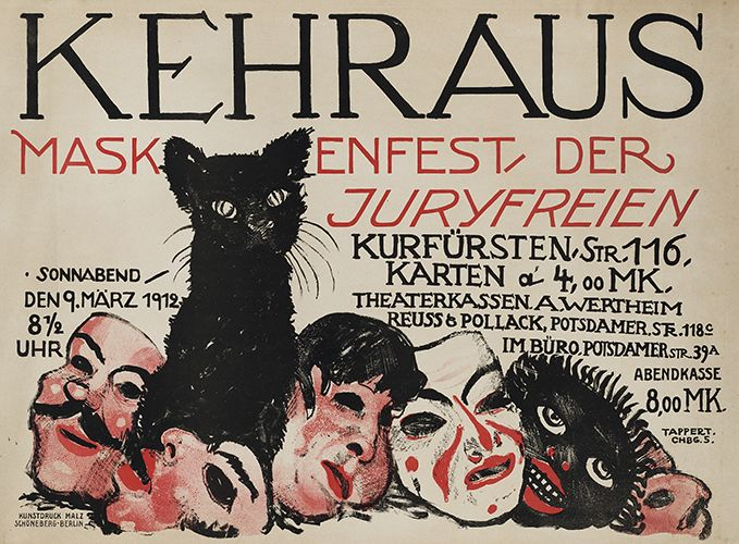 Juryfreie Kunstausstellung, Berlin. Entwurf Georg Wilhelm Tappert, Deutschland 1912. Druck Kunstdruck Malz, Berlin.