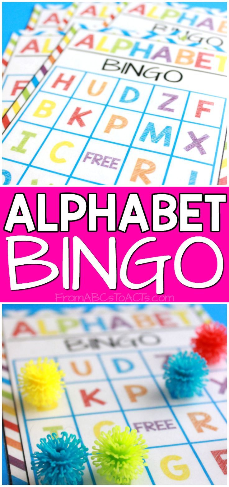 Practice the letters of the alphabet with your preschooler or kindergartner by playing a fun game of alphabet bingo! This post includes 6 free printable bingo cards!