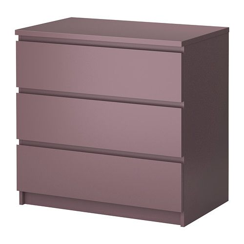 MALM 3 drawer chest IKEA Extra roomy drawers. Smooth running drawers with pull-out stop.