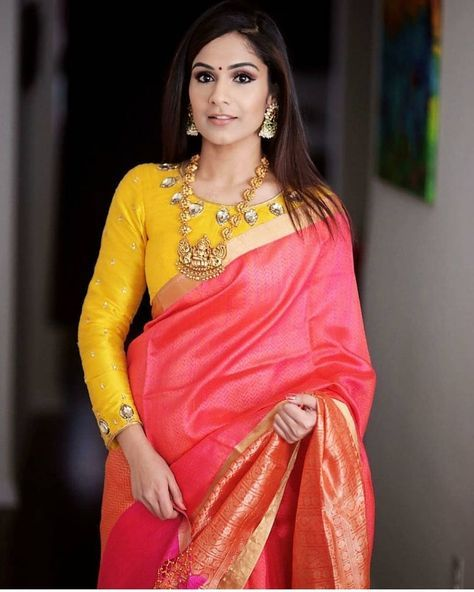 13 Chic Long Sleeve Saree Blouse Designs/Ideas