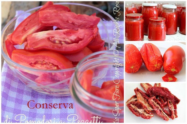 Come conservare i pomodori freschi per poterli godere tutto l'anno. Vediamo insieme come congelarli, essiccarli, fare la salsa, i pelati e il concentrato.