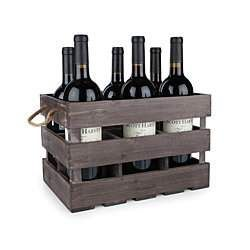 """Rustic Farmhouse Wooden 6 Bottle Crate by Twine """"#wedding #invitations  #dinnerware #weddinglist #glassware #party #kitchenware #stylish #beautifull #china,#presents #favors #luxery  #porcelaindinnerware #party,#cristal #gifts #ornaments #favors #chic #engagement#barware #wedgewood #linkinprofile"""""""