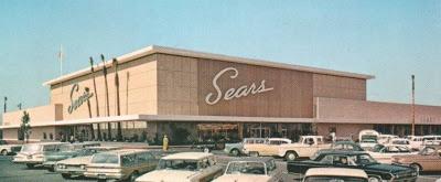 vintage photo Canoga Park California | Pleasant Family Shopping: Sears - Canoga Park, California 1964