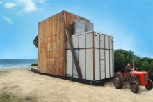 Crosson Clarke Carnachan Architect: hut on sleds