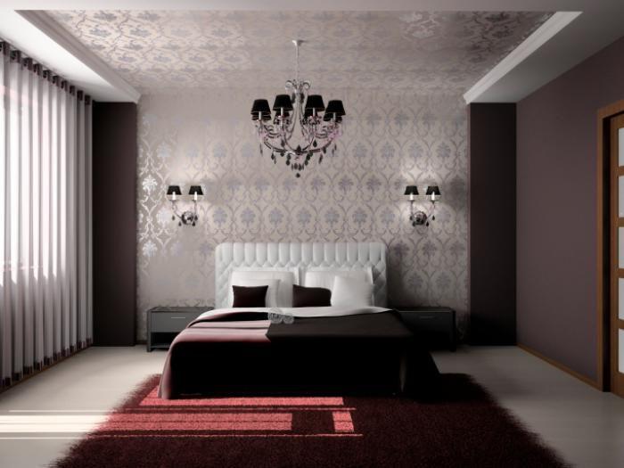 chambre coucher moderne ide dco en rouge et marron