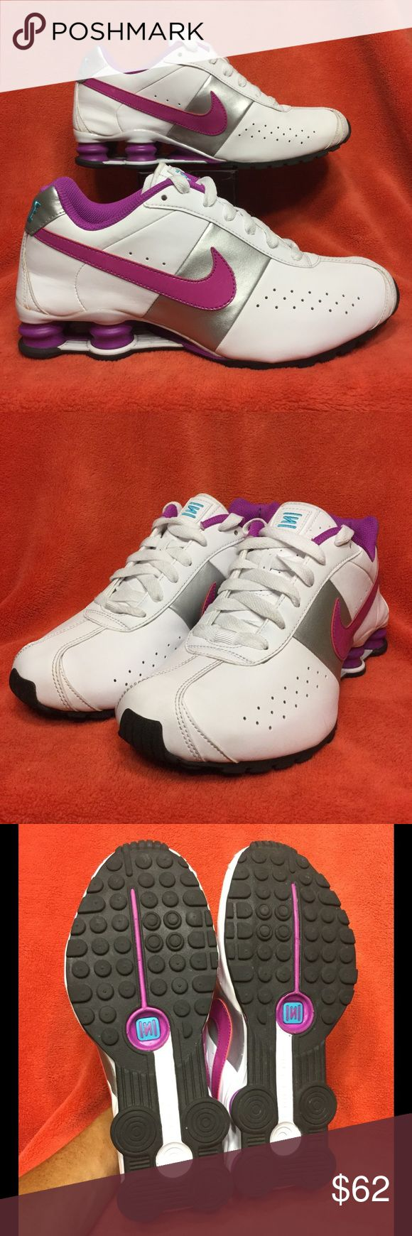 NIKE SHOX CLASSIC II magenta/silver . w10 42 m8.5 Very clean (like new) . Minimal wear . No issues Nike Shoes