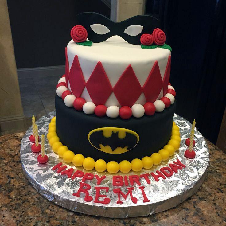 Batman And Harley Quinn Birthday Cake Awesome Geek Stuff