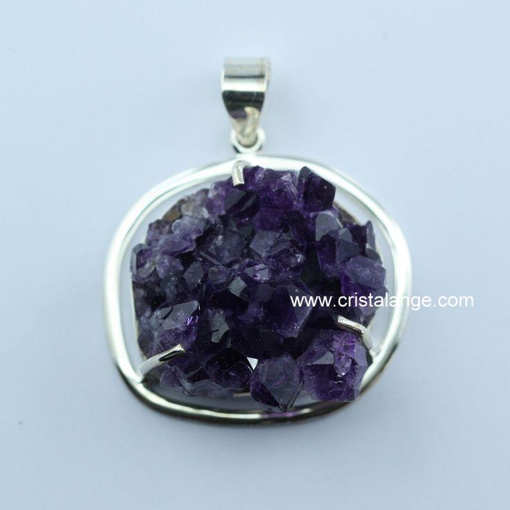 Pendentif améthyste cristaux bijoux pierres semi précieuses et lithothérapie by Cristalange