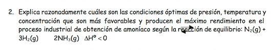 Ejercicio 2,P1, JUNIO 1996. Examen PAU de Química de Canarias. Tema: equilibrio.