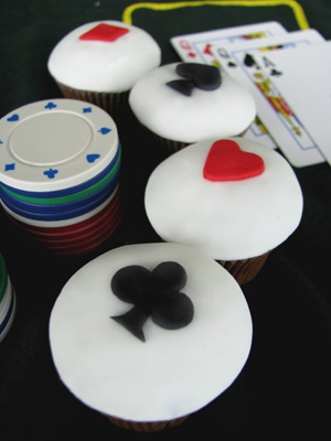 poker cupcakes - how fun would it be to host a poker night and have these?