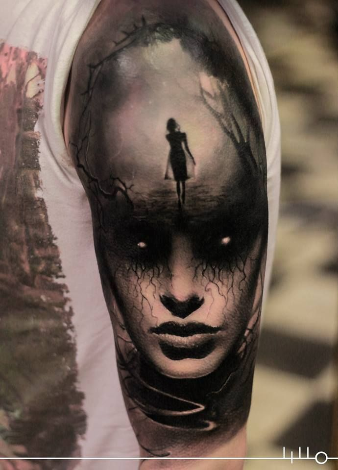 41 best horror women tattoos images on pinterest horror tattoos cool tattoos and awesome tattoos. Black Bedroom Furniture Sets. Home Design Ideas