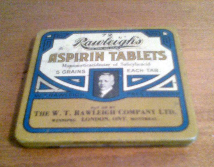 Rawleigh's Asprin Tin London Ontario