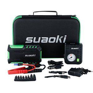 Suaoki G7 Plus 18000mAh Multi-fonction Car Jump Starter Démarrage de Voiture avec 600A Courant de Crête Alimentation Eléctrique d'Urgence…