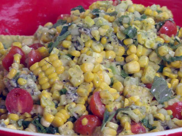 Grilled Corn and Tomato-Sweet Onion Salad with Fresh Basil Dressing ...