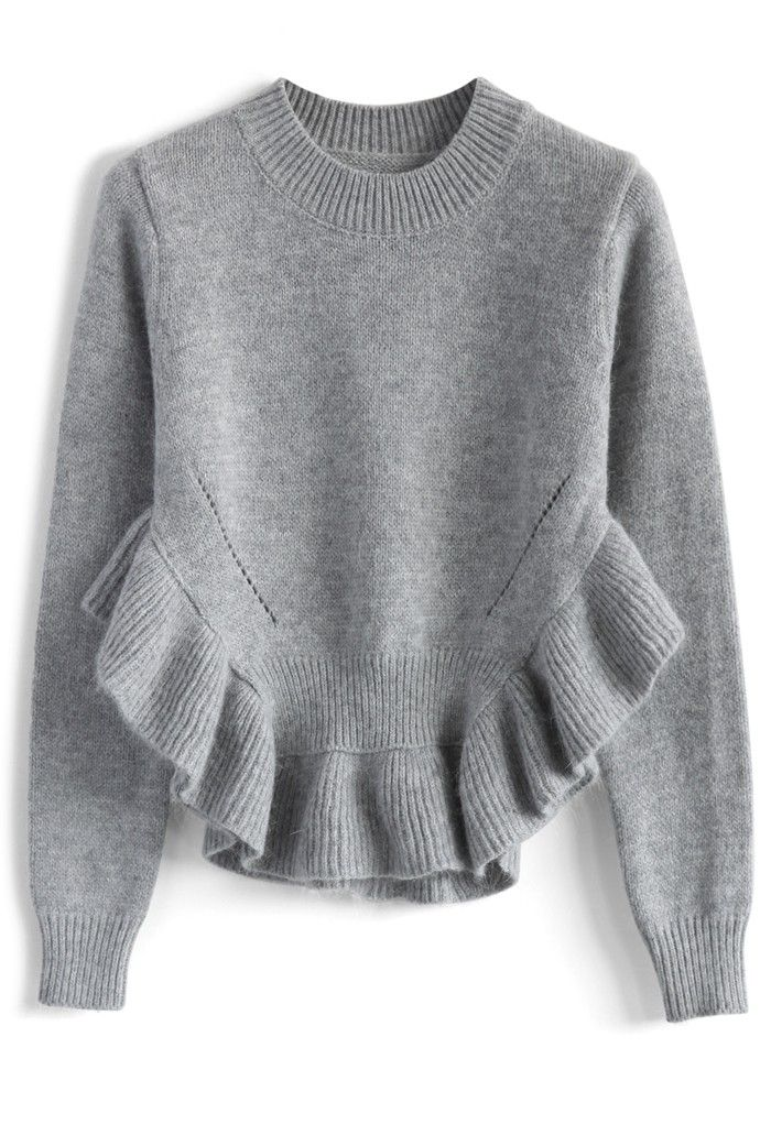 adorable_frilling_hemline_sweater_in_grey_1.jpg (700×1021)
