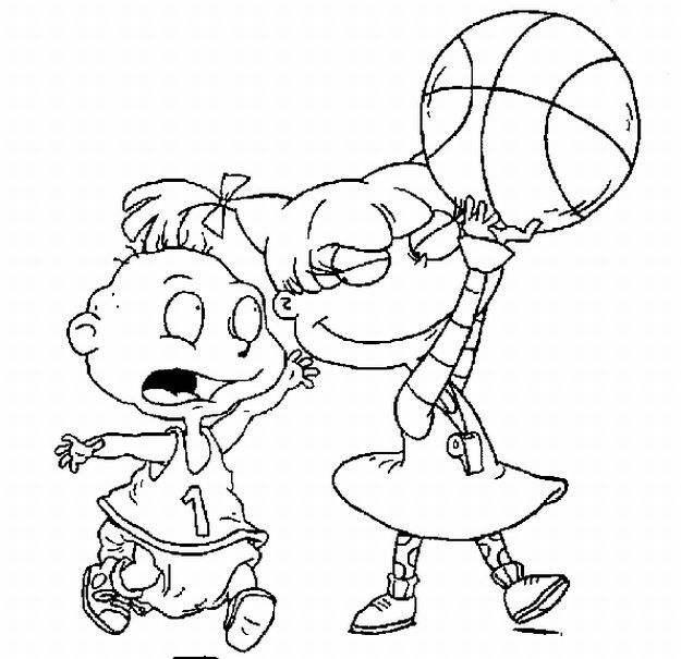 rugrats coloring pages kids world - Rugrats Characters Coloring Pages