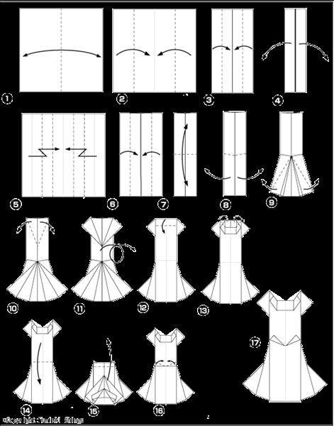 Искусство оригами платье