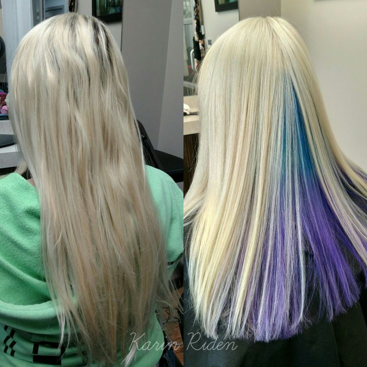 Icy Blonde Hair With Peekaboo Under Color Hair By Karin