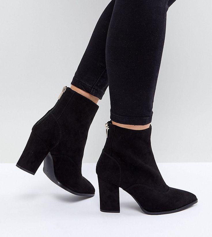 River Island - Breite, spitze Ankle-Boots - Schwarz Jetzt bestellen unter: https://mode.ladendirekt.de/damen/schuhe/stiefeletten/ankleboots/?uid=8446aa32-b81d-5ffc-ba28-aedafa57dce0&utm_source=pinterest&utm_medium=pin&utm_campaign=boards #stiefeletten #stiefel #ankleboots #schuhe #female