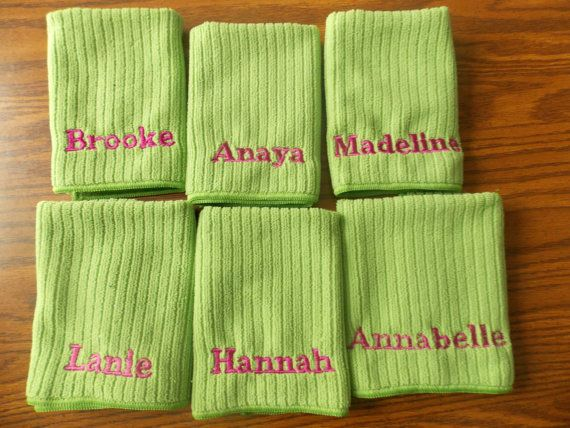 Personalized Washcloth, Monogrammed Washcloths make great teen girl gifts. CLICK to see more.