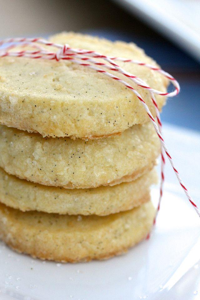 Karen's Kitchen Stories: Vanilla Bean Sable Cookies | Best Vanilla Cookies Ever