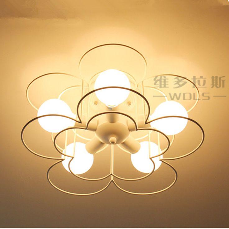 black/white flower ceiling light chandelier fixture for bedroom kids living room