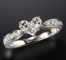 Enigma heart solitaire diamond ring