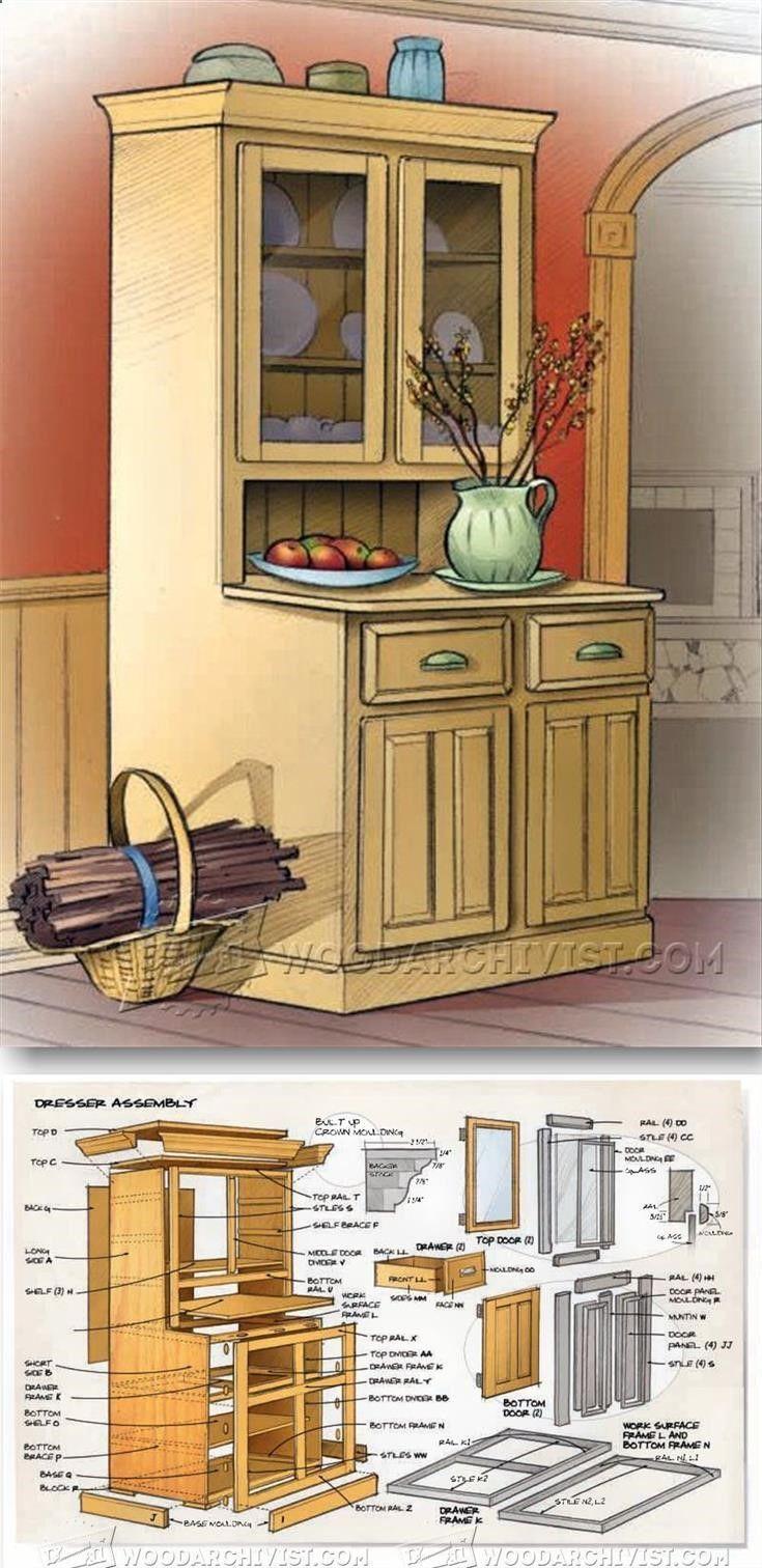 Kitchen Dresser Plans - Furniture Plans and Projects   WoodArchivist.com
