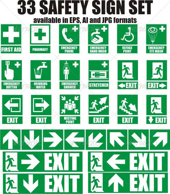 33 Emergency Sign  #GraphicRiver         Here is a set of 33 most used emergency sign.  	 Every sign is available in JPG , AI and EPS format. The vectorized formats are curved, so you don't need to write any text or change any shape.  	 But for all those who want to change the text, or write it on other language, I also include the Impact font which I used in these set.     Created: 8November11 GraphicsFilesIncluded: JPGImage #VectorEPS #AIIllustrator Layered: Yes MinimumAdobeCSVersion: CS…