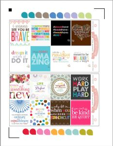 Free Printable Quotes for Your Erin Condren Planner