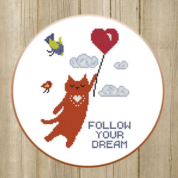 PDF. Flying Red Cat. Follow Your Dream. Cross by SecretFriends