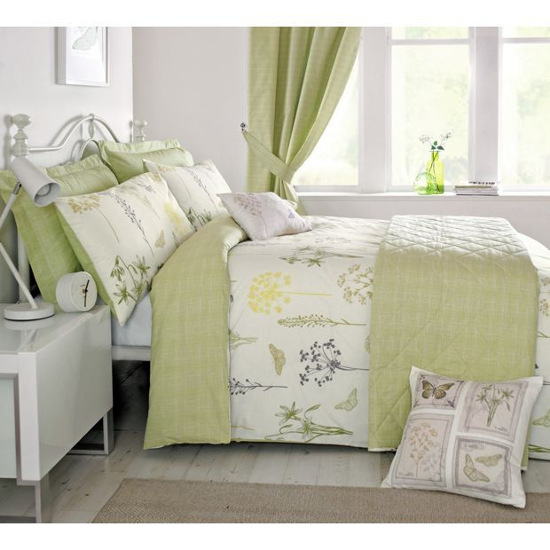 Buy Dreams N Drapes Botanique Green Duvet Cover - Single at Argos.co.uk - Your Online Shop for Duvet cover sets, Bedding, Home and garden.