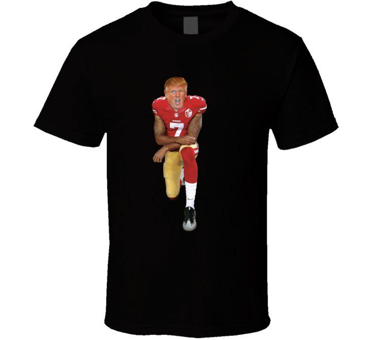 Donald Trumpp Kneeiling Parody Colin Kaepernick T-shirt