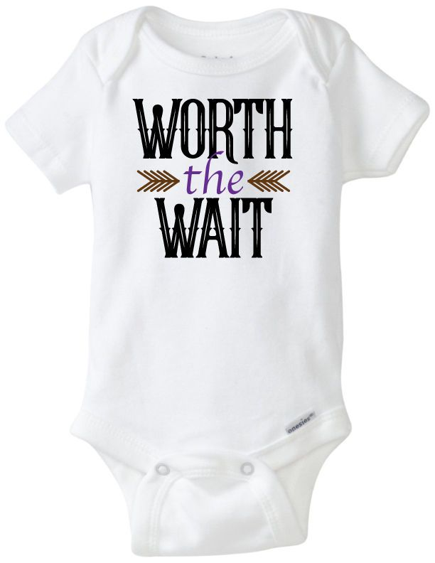 4d5586d376a6 Worth The Wait Funny Novelty Baby Onesie Boy Girl Clothes Bodysuit ...
