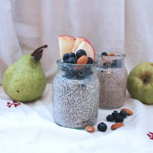 A quick and easy recipe for chia seed pudding for a healthy vegan breakfast packed with superfood goodness!