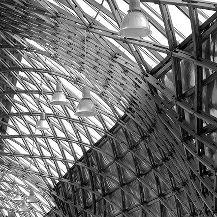 Material Matters: Wood #manser #wood #timber #vault #grid #shell #roof #ceiling #oak