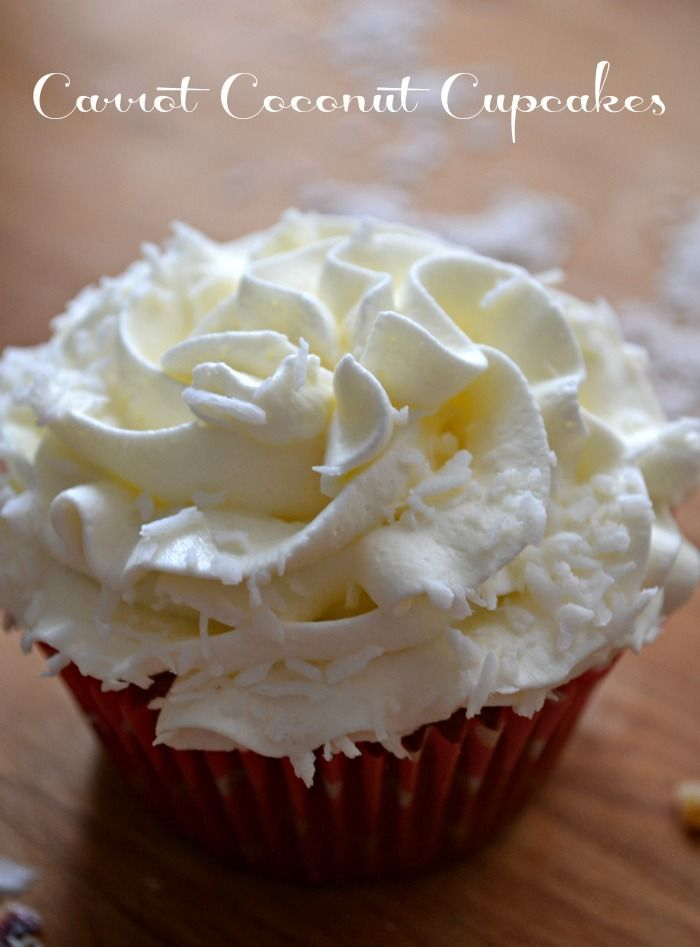 ... Cupcake with a cloud of heavenly whipped cream and cream cheese