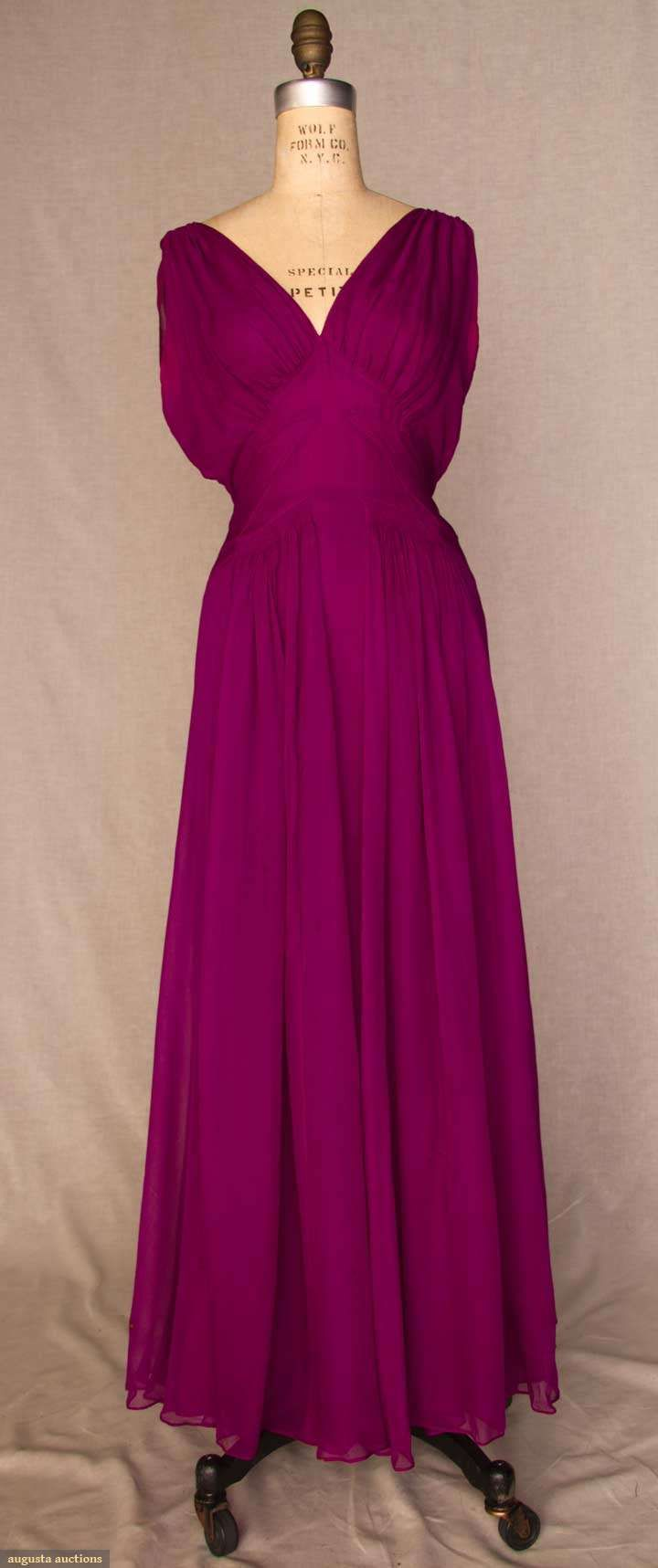 Augusta Auctions, November 10, 2010 - St. Pauls - NYC, Lot 366: Jean Patou Silk Evening Gown, 1938-1940