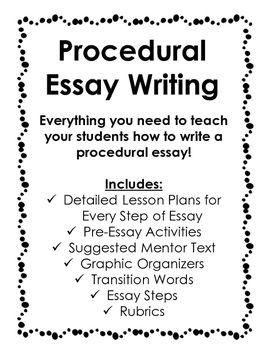Writing procedural essay