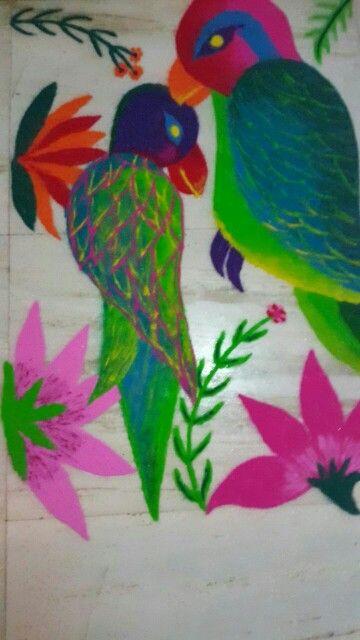 Parrot rangoli