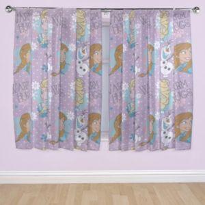 DisneyFrozen Purple Pencil Pleat Childrens Curtains