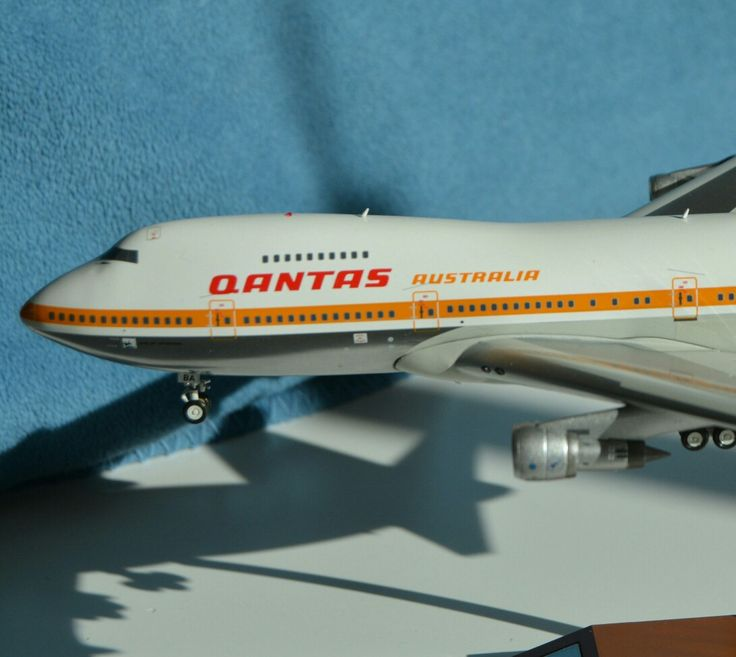 Copyright Alfred Gurp | Qantas 747-200 | Modell | Scale 1:200