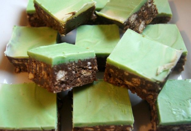 Delicious choc-peppermint slice! |